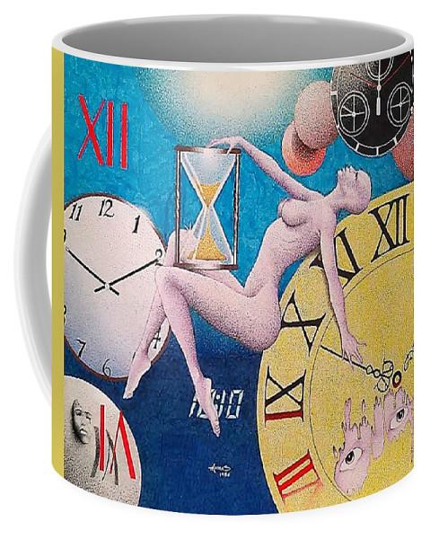 Surreal Coffee Mug featuring the drawing Ten Ten by Jay Thomas II