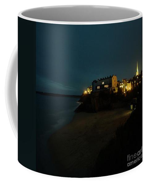 Tenby Coffee Mug featuring the photograph Tenby By Night by Angel Ciesniarska