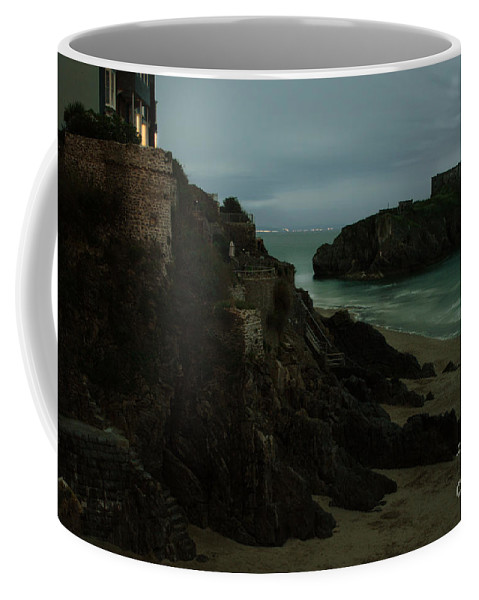 Landscape Coffee Mug featuring the photograph Tenby In The Night by Angel Tarantella