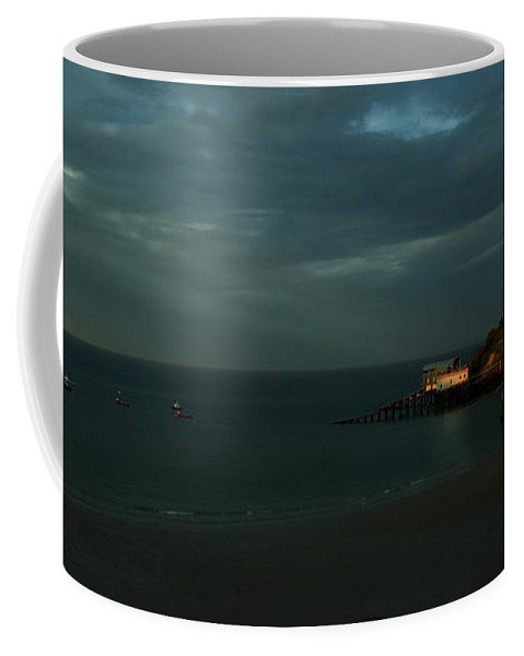 Tenby Coffee Mug featuring the photograph Tenby In The Setting Sun by Angel Ciesniarska