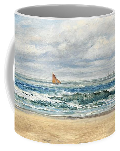 Seascape Coffee Mug featuring the painting Tenby by John Brett