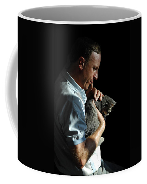 Man Coffee Mug featuring the photograph Tender Moment by Donna Blackhall