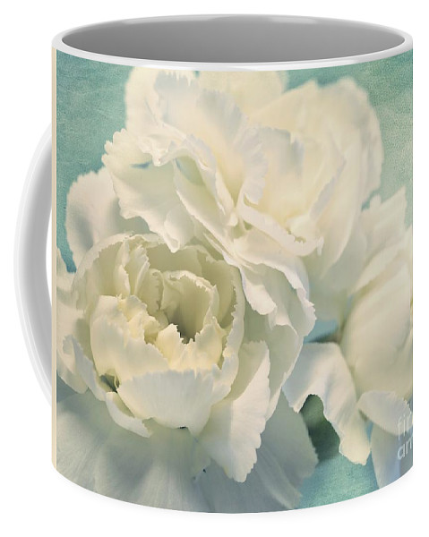 Carnation Coffee Mug featuring the photograph Tenderly by Priska Wettstein