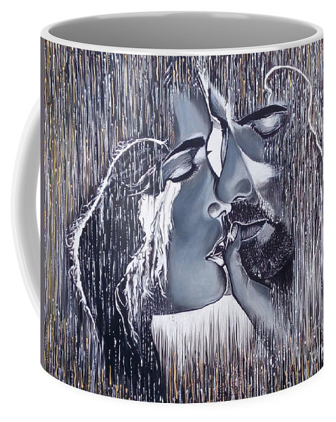 Coffee Mug featuring the painting Tenderness And Beauty by Galya Koleva