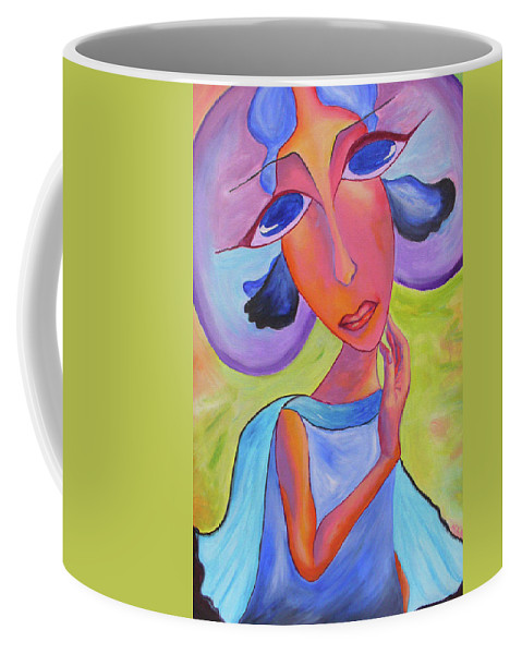 Woman Coffee Mug featuring the painting Tenderness by Natalia Lebed