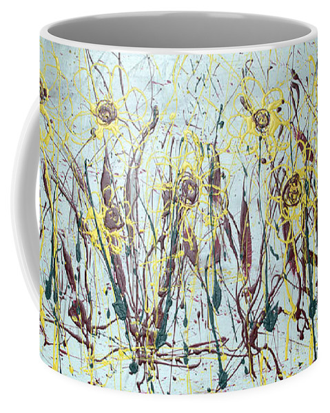 Flowers Coffee Mug featuring the painting Tending My Garden by J R Seymour