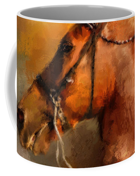 Jai Johnson Coffee Mug featuring the painting Tennessee Walker In August by Jai Johnson