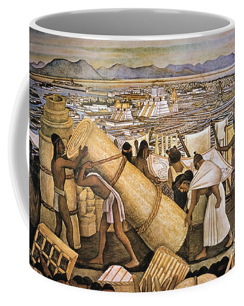 American Indian Coffee Mug featuring the photograph Tenochtitlan (mexico City) by Granger