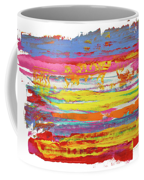 Contemporary Coffee Mug featuring the painting Tequila Sunrise by Bjorn Sjogren