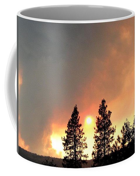 Forest Fire Coffee Mug featuring the photograph Terrace Mountain Fire 2 by Will Borden