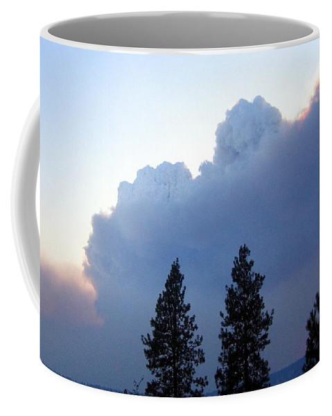 Terrace Mountain Smoke Coffee Mug featuring the photograph Terrace Mountain Smoke by Will Borden
