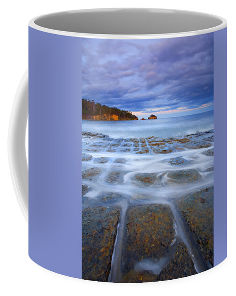 Sunset Coffee Mug featuring the photograph Tesselated Sunset by Mike Dawson