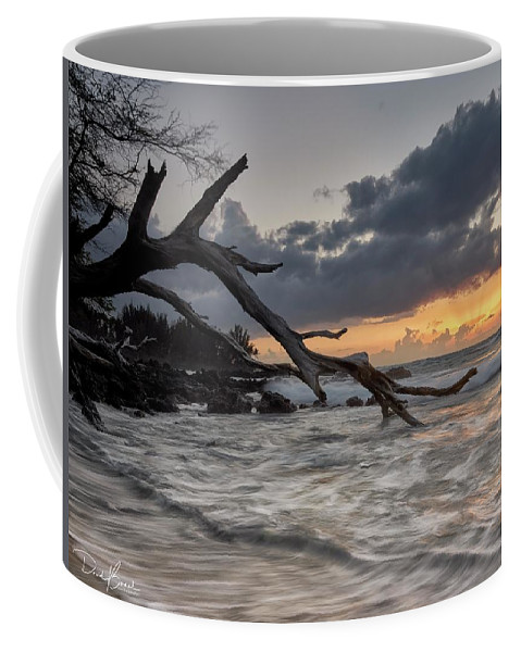 Sunset Coffee Mug featuring the photograph Testing The Water by David Bernal
