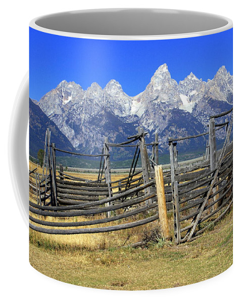 Grand Teton National Park Coffee Mug featuring the photograph Teton Corral by Marty Koch