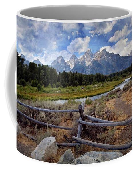 Grand Teton National Park Coffee Mug featuring the photograph Tetons Grande 3 by Marty Koch
