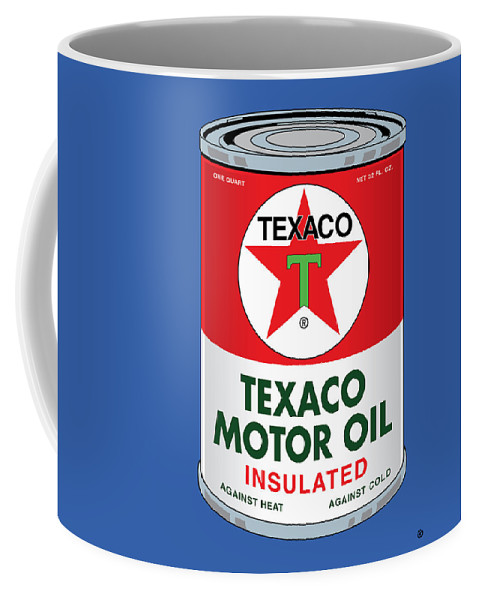Vector Coffee Mug featuring the painting Texaco Can by Gary Grayson