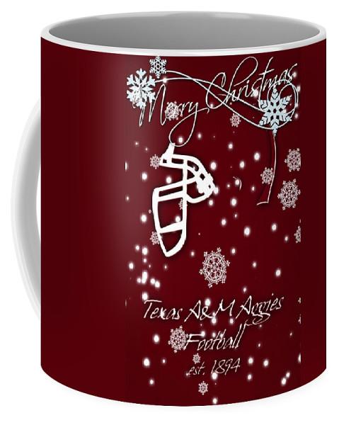 Texas A&m Aggies Coffee Mug featuring the photograph Texas Am Aggies Christmas Card by Joe Hamilton