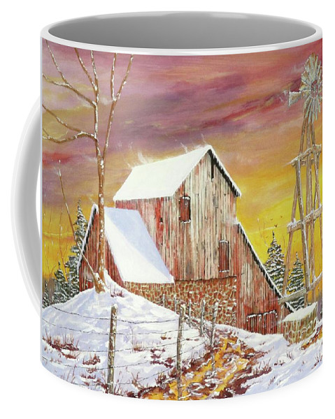 Texas Coffee Mug featuring the painting Texas Coldfront by Michael Dillon