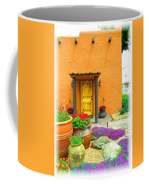 Adobe Coffee Mug featuring the photograph Texas Fiesta-style by Gale Cochran-Smith