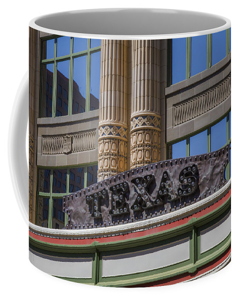 Marquee Coffee Mug featuring the photograph Texas Marquee by Steve Gravano