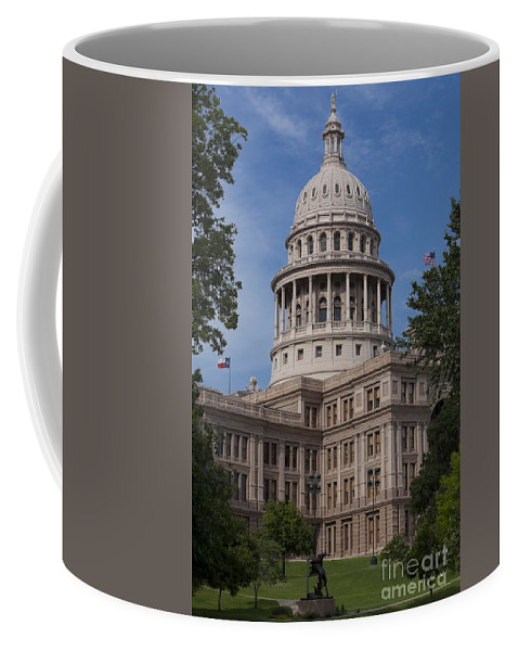 Austin Coffee Mug featuring the photograph Texas State Capitol - Austin Tx by Anthony Totah