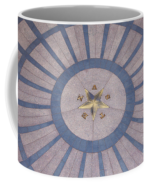 Architecture Coffee Mug featuring the photograph Texas State Capitol - Courtyard Floor by Anthony Totah