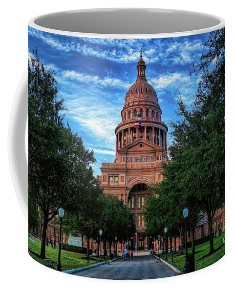Historic Buildings Coffee Mug featuring the photograph Texas State Capitol by Diana Mary Sharpton