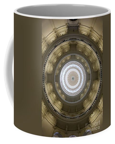 Architecture Coffee Mug featuring the photograph Texas State Capitol - Interior Dome by Anthony Totah