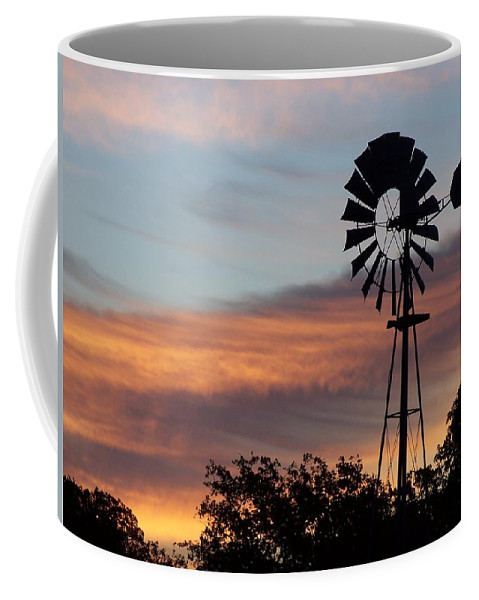 Windmill Coffee Mug featuring the photograph Texas Sunrise by Gale Cochran-Smith