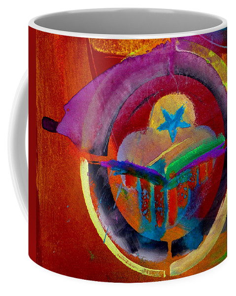 Button Coffee Mug featuring the painting Texicana by Charles Stuart
