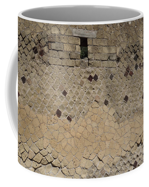 Stone Coffee Mug featuring the photograph Textural Antiquities Herculaneum Wall One by Laura Davis