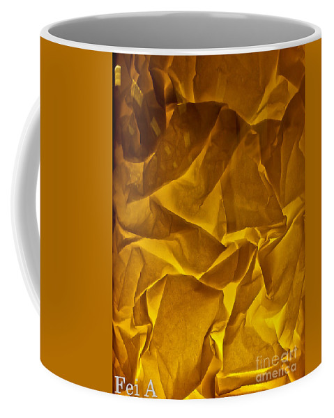 Abstract Coffee Mug featuring the photograph Textured Texture by Fei A
