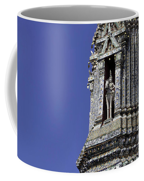 Architecture Coffee Mug featuring the photograph Thailand Temple Architecture by Anthony Totah