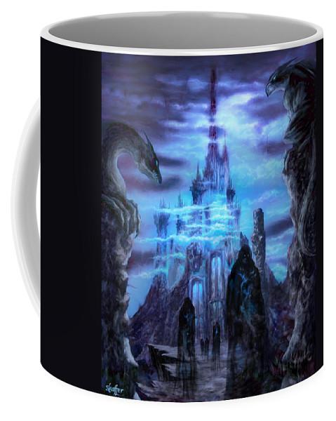 Tolkien Coffee Mug featuring the mixed media Thangorodrim by Curtiss Shaffer