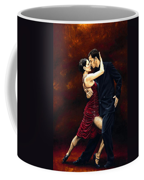 Tango Coffee Mug featuring the painting That Tango Moment by Richard Young