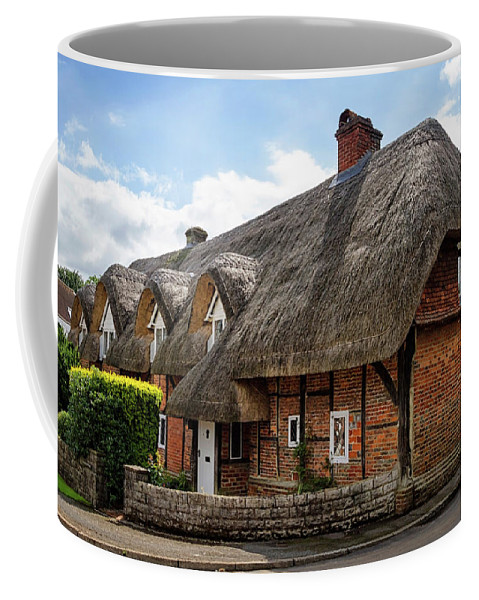 Cottage Coffee Mug featuring the photograph Thatched Cottages In Chawton by Shirley Mitchell
