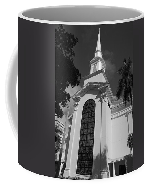 Architecture Coffee Mug featuring the photograph Thats Church by Rob Hans