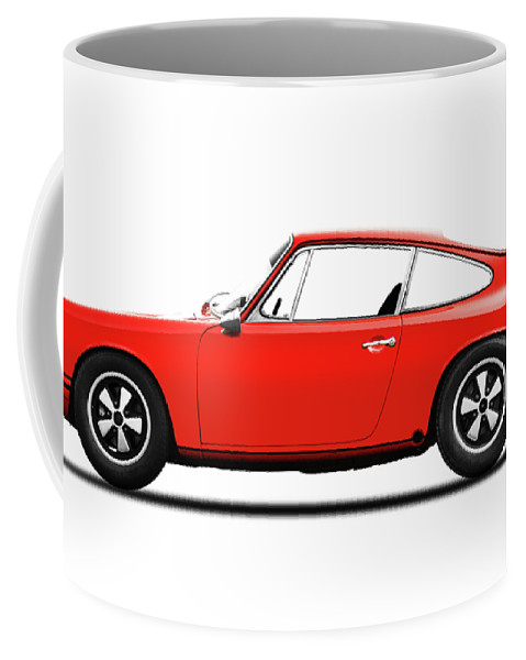 Porsche 911 Coffee Mug featuring the photograph The 1965 Porsche 911 by Mark Rogan