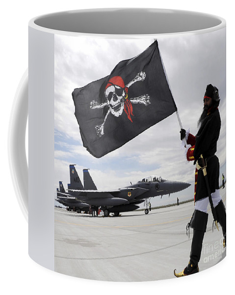 Jet Coffee Mug featuring the photograph The 428th Fighter Squadron Buccaneer by Stocktrek Images