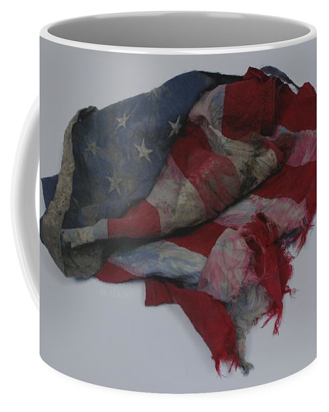 911 Coffee Mug featuring the photograph The 9 11 W T C Fallen Heros American Flag by Rob Hans
