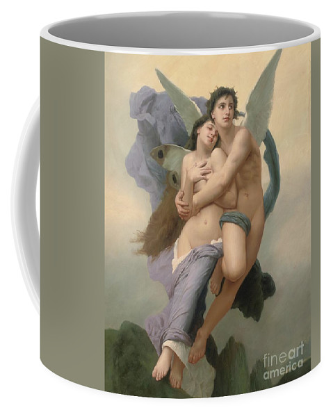 William-adolphe Bouguereau Coffee Mug featuring the painting The Abduction of Psyche by William-Adolphe Bouguereau