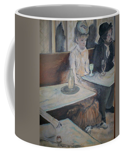 Degas Coffee Mug featuring the painting The Absinthe Drinker by Gary Hogben