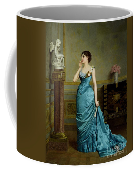 Coffee Mug featuring the painting The Accomplice by Auguste Maurice Cabuzel