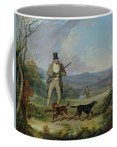 The Coffee Mug featuring the painting The Afternoon Shoot  by Philip Reinagle