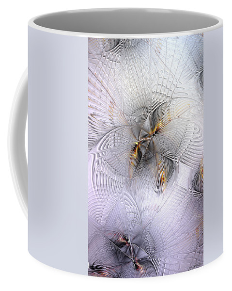 Abstract Coffee Mug featuring the digital art The Age Of Intellectual Ascension by Casey Kotas