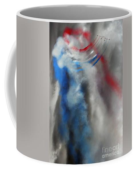 Red Arrows Coffee Mug featuring the photograph The Air Kingdom by Angel Ciesniarska