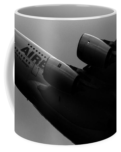 Airbus Coffee Mug featuring the photograph The Airbus A380 by Angel Tarantella