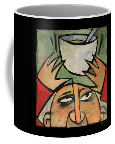 Humor Coffee Mug featuring the painting The Amazing Brad Soup Juggler by Tim Nyberg