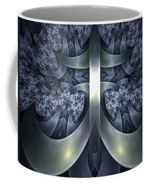 Fractal Coffee Mug featuring the digital art The Anchor by Amorina Ashton