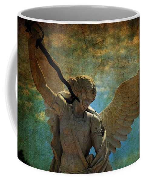 Angel Coffee Mug featuring the photograph The Angel Of The Last Days by Susanne Van Hulst